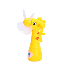wholesale handheld portable power water spray mini fan toy for kids