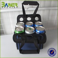 convenient neoprene 6 pack can cooler water bottle tote bag