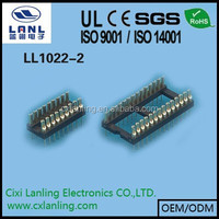 electronic components round pin ic socket 2.54mm pitch ic sockets/ machine pin header IC Dip 2.54mm pitch solder type