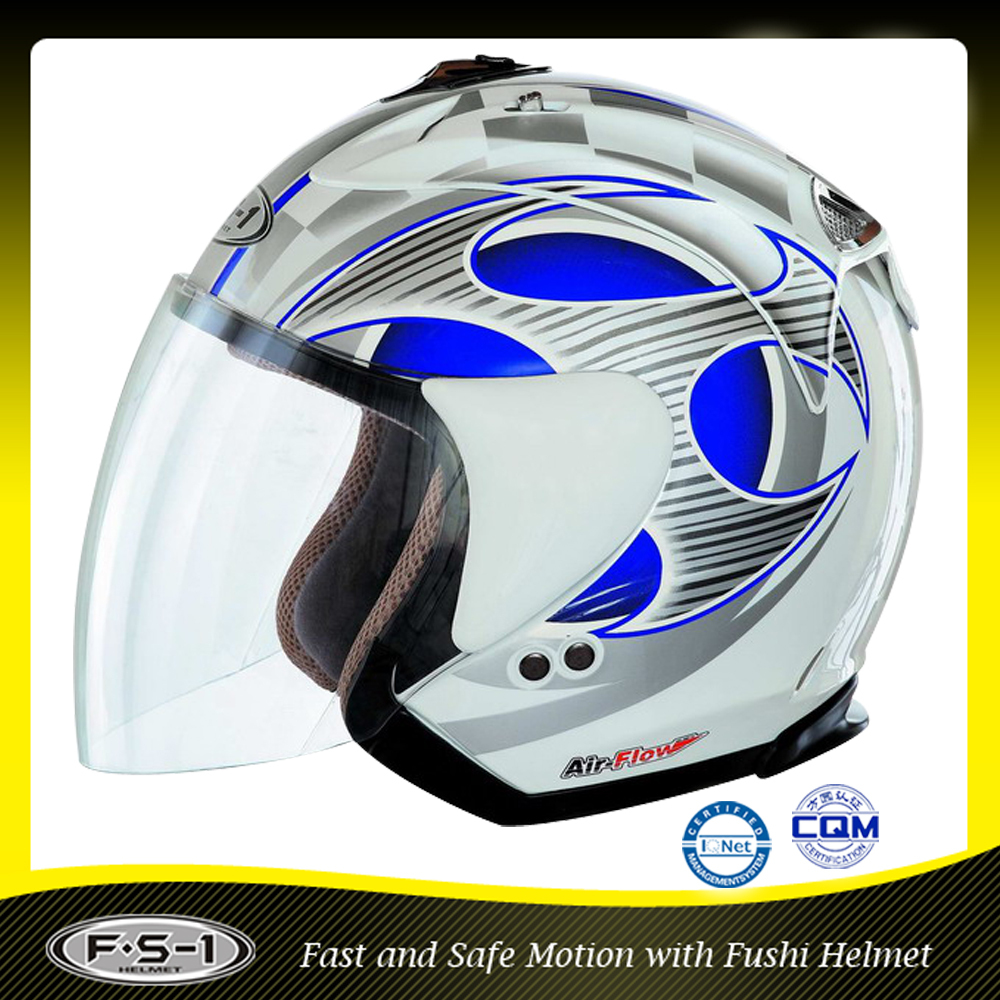 ABS DOT approved open face motorcycle helmet