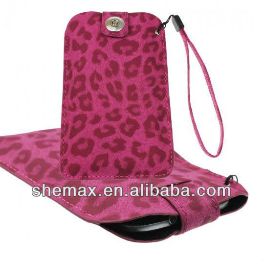 LEOPARD ANIMAL PRINTING LEATHER PULL TAB CASE COVER POUCH FOR LG Optimus L5 E610 E612G
