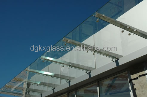 12mm tempered glass canopy for entrance door