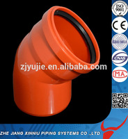 SDR34/SN8 pvc fitting with rubber ring 110mm pvc elbow dimensions 110mm pvc fittings elbow pvc 45degree elbow