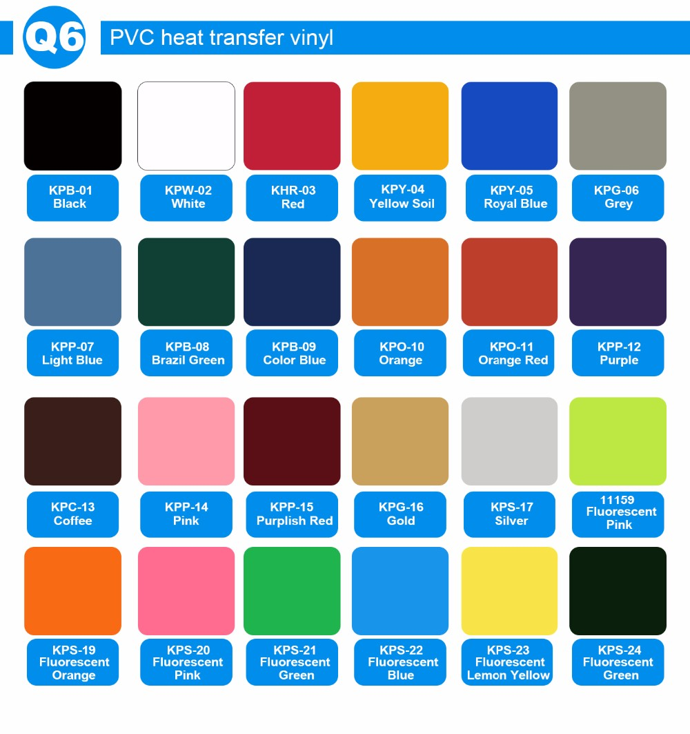 Kenteer PVC heat transfer vinyl /flock