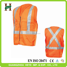 Good quality high visibility ANSI/ISEA 107 motorcycle reflective safety vest