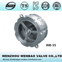 WB-55 Wafer type spring check valve price /check valve 2.5 inch /stainless steel wafer check valve china