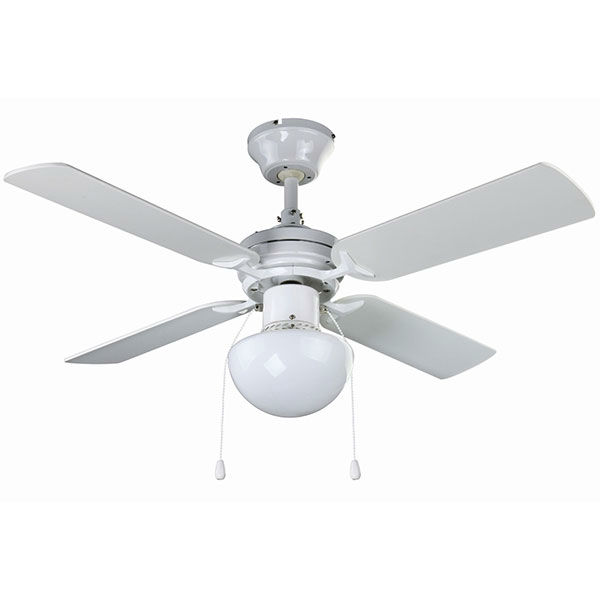 4 BLADES CEILING FAN WHITE 36 DIAMETER MOTOR: 35W