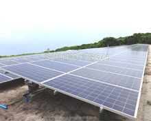 Aluminum ground solar module racking system