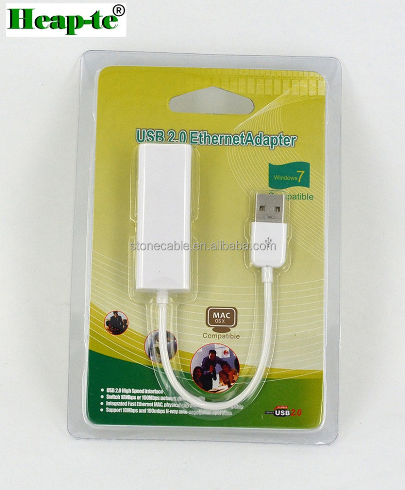 USB Ethernet Adapter USB 2.0 Network Card to RJ45 Lan for Win8 10 Mi Box 3 Nintend Switch Ethernet USB