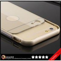 Keno Luxury Armor Shield Ultra Thin Aluminum Alloy Protective Metal Bumper Case with Acrylic Back Cover for iPhone 6 4.7""