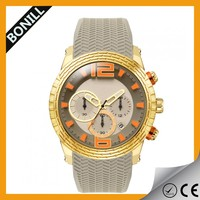 2014 Fashion Dial Mechanical Silicone Watch Chronograph Wrist womens Watch Cheap Wholesale