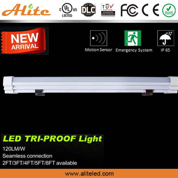 IP65 Tri-proof LED Tube Light Fixture UL/DLC certified 5 yrs warranty