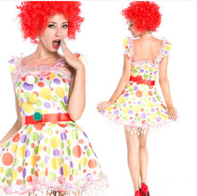 Wholesale wave point the clown Costume lady's halloween costume