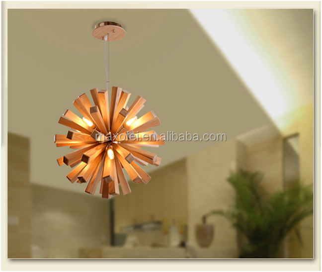 Beautiful Wooden Modern Ceiling <strong>Lamps</strong> for Hotel/Dining room