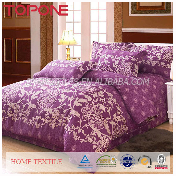 Purple style cheap soft home printed cheap duvet covers