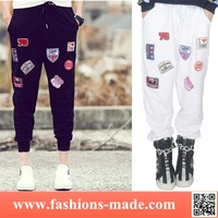 Girls Fancy 2 Colors Medal Harem Pants