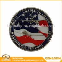 High quality custom cheap antique zinc alloy hard enamel logo challenge coin