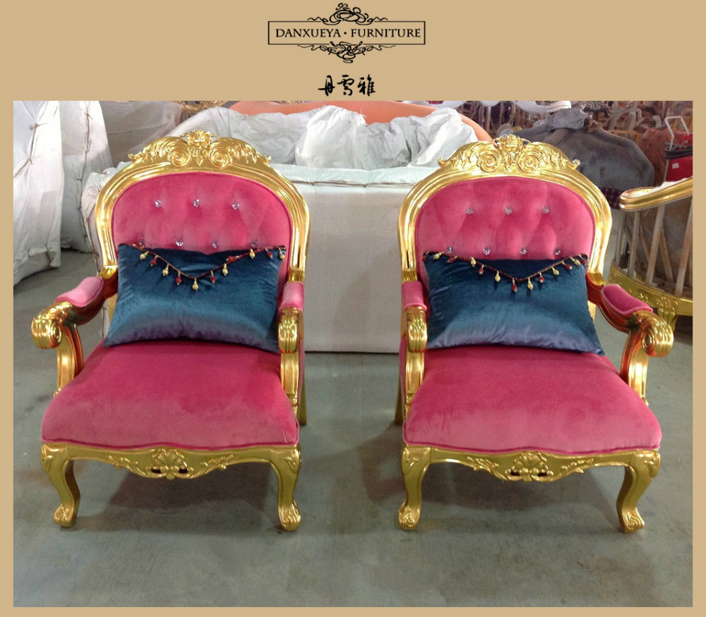 Nice elegant luxury wedding funituregolden carved sofa for Elegant nice sofa