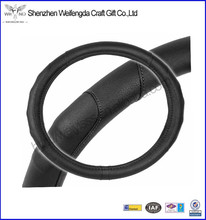 Good quality stitched synthetic leather steering wheel cover