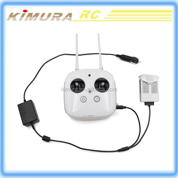 DJI Phantom 4 battery Car Charger for DJI Phantom 4 Remote controller and Additional Battery