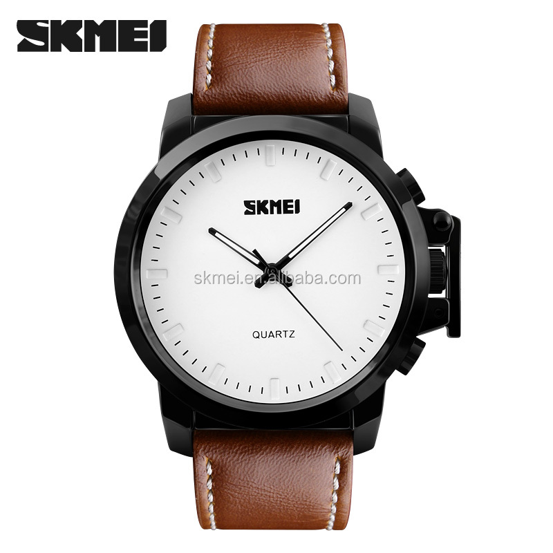 Alibaba online shopping cheap skmei 1208 waterproof quartz men relojes de marca with silicon and PU leather band