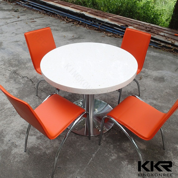 Modern Artificial Stone Round Marble Top Dining Tables