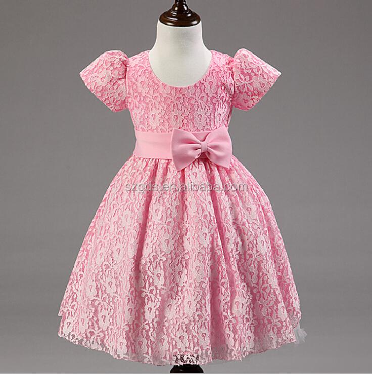 Factory in stock latest design flower girl dress girls party dress ...