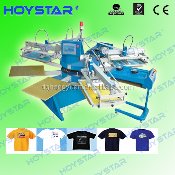 Top quality Chinese factory supply automatic 4 color 8 station screen printing machine for T-shirts