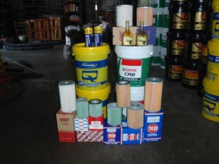 FILTER,HYDRAULIC OIL,GREASE,DIESEL OIL