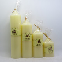 beautiful wedding pillar candle