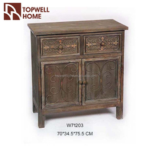 Antique Style Home Furniture 2 Door Wooden Ancient Cabinet China