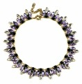 fashion jewelry 2016 women, elegant lavender necklace purple crystal statement necklace new