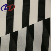 Black and White Stripe Pure Chiffon Dress Printed Fabric