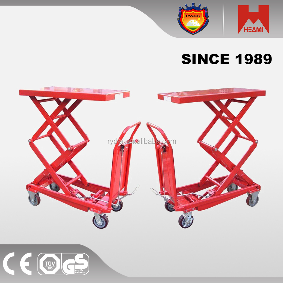 350kg hydraulic Light weight Hand Operated Lift Tables in alibaba