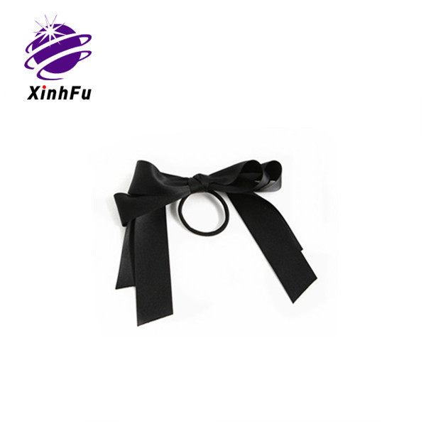 Wholesale hair accessories ribbon bow with elastic band loop