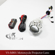 VS-M801 Mini Motor Angel Eye Projector Hid 7 Colors Bi-xenon Projector Lens Light