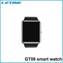 CE FCC ROHS BQB Quality GT08 Sim card Smart watch phone,2015 man watches mobile phone,latest wrist hand watch mobile phone price
