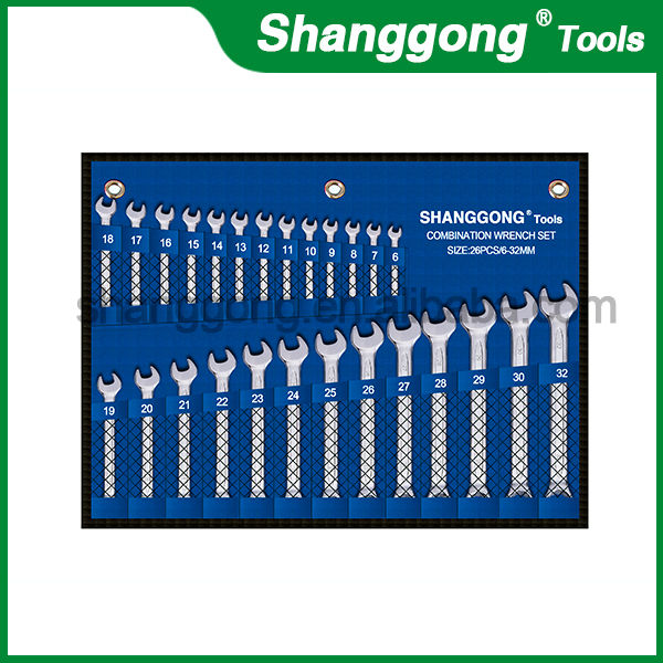 Combination Wrench set mirror polished spanner wrench lens repair tool