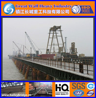 Truss stiffened platform, Steel-Frame Construction Platform, The unloading platform on the sea