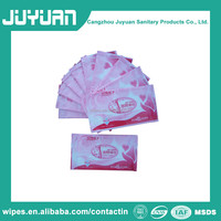 OEM single sachet intimate cleaning wet wipes for feminine