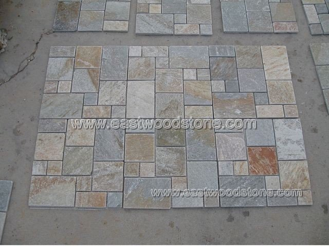 Ext rieur d coration murale mosa que de pierre ardoise id de produit 322378702 for Pierre decorative murale