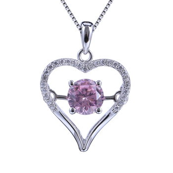 2018 Wholesales Sterling 925 Silver Heart Fashion Jewelry Necklace For Women