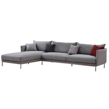 European Design Fabric Corner living room Sofa Set Designs With Stainless Steel Legs