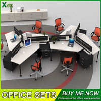 Office staff desks, employees workstation, computer table design