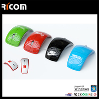 2.4g wireless computer option foldable mouse 2.4ghz usb wireless optical mouse driver
