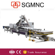 Automatic unloading pusher wooden sheets cutting CNC Router 4*8feet/furnitures making ATC feeding cnc router
