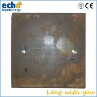 steel casting jaw crusher wear parts side plate, side liner,cheek plate
