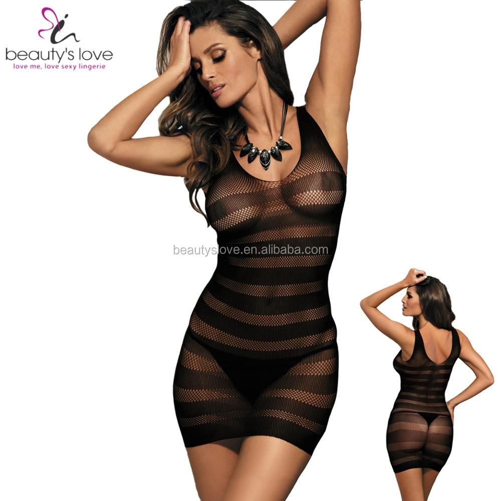 Beautys Love 2017 New Body Stocking Lingerie Womens Body Suit Sexy Transparent Bodysuit