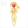 Highest Quality Gold Plated Crystal Mitten Metal Bookmark