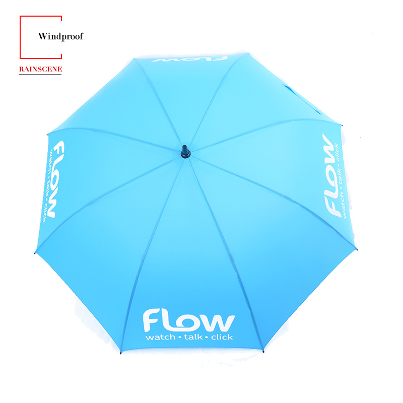 China Factory New Model UV Long Shaft Giant Big Large Windproof Custom Rain Gift Golf Umbrella With Logo Printing For Promotion